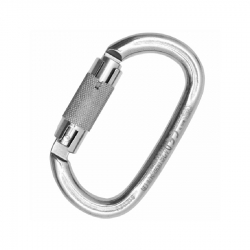 Carabiner OVALONE STAINLESS steel AUTO BLOCK