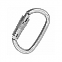 Carabiner OVALONE STAINLESS steel AUTO BLOCK ANSI