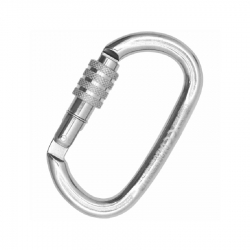 Carabiner OVALONE STAINLESS steel SCREW SLEEVE