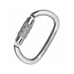 Carabiner OVALONE STAINLESS steel TWIST LOCK
